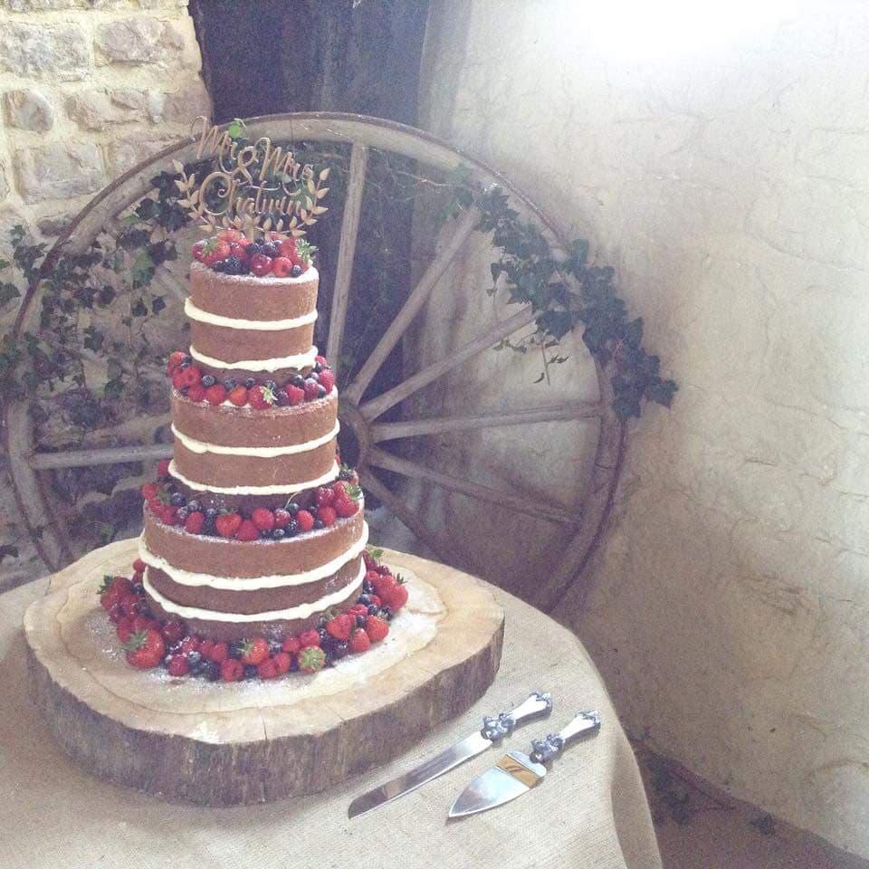 Bespoke 3 tier naked Wedding Cake