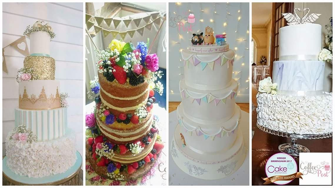 Custom designed wedding cakes by The Coffee Post Fairford
